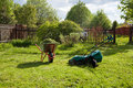 Mow the grass Royalty Free Stock Photo