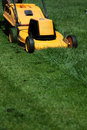 Mow the lawn Stock Photo
