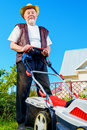 Mow a lawn Royalty Free Stock Photo