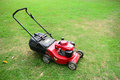 Mower lawn in the garden Royalty Free Stock Photos