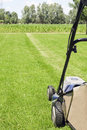 Mowing the gras Royalty Free Stock Photo