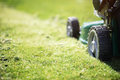 Mowing the grass Royalty Free Stock Photo