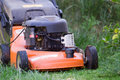 Mowing the meadows Royalty Free Stock Photo