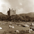 Moy Castle, sepia tone Stock Photos