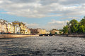 Moyka River embankment, View of the canal in Saint Petersburg Royalty Free Stock Photo