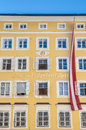 Mozart's birthplace (Mozarts Geburtshaus) at Salzburg, Austria Royalty Free Stock Photo