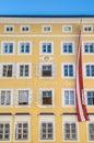 Mozart's birthplace (Mozarts Geburtshaus) at Salzburg, Austria Royalty Free Stock Photo