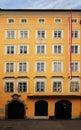Mozart's birthplace in Salzburg Royalty Free Stock Photo