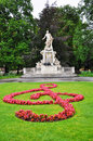 Mozart's statue in Vienna Royalty Free Stock Photo
