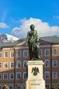 Mozart statue in Salzburg Austria Royalty Free Stock Photo
