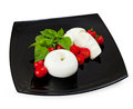 Mozzarella di Bufala donuts, fresh cheese, italian dairy product Royalty Free Stock Photo