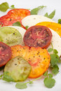 Mozzarella Tomato Salad Royalty Free Stock Photography