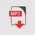 MP3 Icon vector flat Royalty Free Stock Photo