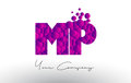 MP M P Dots Letter Logo With P...