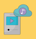 Mp3 and Play icon. Music online and Technology. Vector graphic Royalty Free Stock Photo