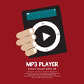 Mp player in hand vector illustration Stock Images