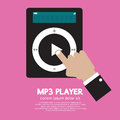 Mp player with hand vector illustration Stock Images