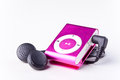 Mp player on white background Stock Image