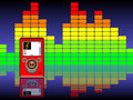 Mp3 & Equalizer Background Royalty Free Stock Image