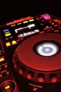 Mp3 professional player mixer for dj Stock Image