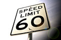 Mph a speed limit sign Royalty Free Stock Image
