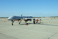 MQ-1 Predator Drone on display Royalty Free Stock Photo
