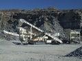Máquina de la banda transportadora de la mina Fotos de archivo libres de regalías