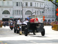 Mr lee kuan yew yews casket travels from istana to parliament house by means of a gun carriage his body lies in state at Stock Image