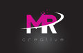 MR M R Creative Letters Design With White Pink Colors