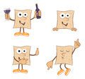 Mr matzah cute set of cartoon eps Stock Photos