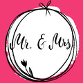 Mr & Mrs. And, ampersand symbol. Bride and groom. wedding words.