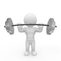 Mr smart guy is training with barbell a d figure a huge Stock Photos