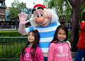 Mr smee pictured here in disney paris talking a little girl were one of the many characters children could have their Stock Photography