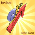 Mr. Snail with growth. vector illustration