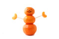Mr tangerine man a sculpture made of clementine oranges representing a happy healthy person Stock Image