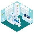 MRI Diagnostic Procedure Isometric Concept