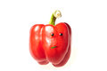 Mrs bell pepper isolated on white background Royalty Free Stock Photo