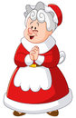 Mrs claus illustration of happy Royalty Free Stock Photography