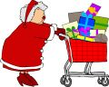 Mrs. Claus shopping Royalty Free Stock Image