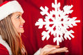 Mrs. Claus with a snowflake Stock Images