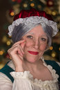 Mrs clause stopped by for a portrait before heading back up north to get ready for christmas Stock Image