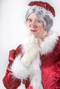 Mrs santa clause stopped by for a portrait shoot before she went back up north for christmas Royalty Free Stock Photos