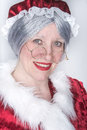 Mrs santa clause stopped by for some head shots just before the big day Stock Photo