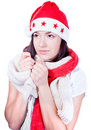 Mrs. Santa coming soon Stock Photography