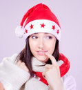 Mrs. Santa coming soon Royalty Free Stock Image