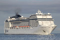 MSC Magnifica on the river Elbe