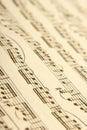 Música de hoja clásica Imágenes de archivo libres de regalías