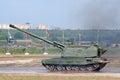 Msta-S self-propelled artilleri Arkivbilder