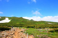 Mt akadake daisetsuzan national park in hokkaido japan Royalty Free Stock Photo