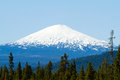 Mt bachelor deschutes forest mount in oregon is photographed from a distance to create this nature scenic landscape of the snow Stock Photo
